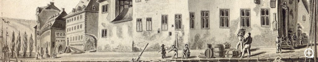 Ansicht der Burg des Bopparder Künstlers Nikolaus Schlad