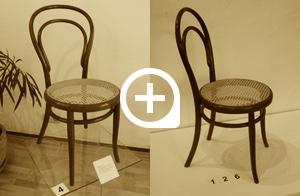 """Sessel Nr. 14, um 1860, Prägung """"THONET"""", 1. Etiket"""