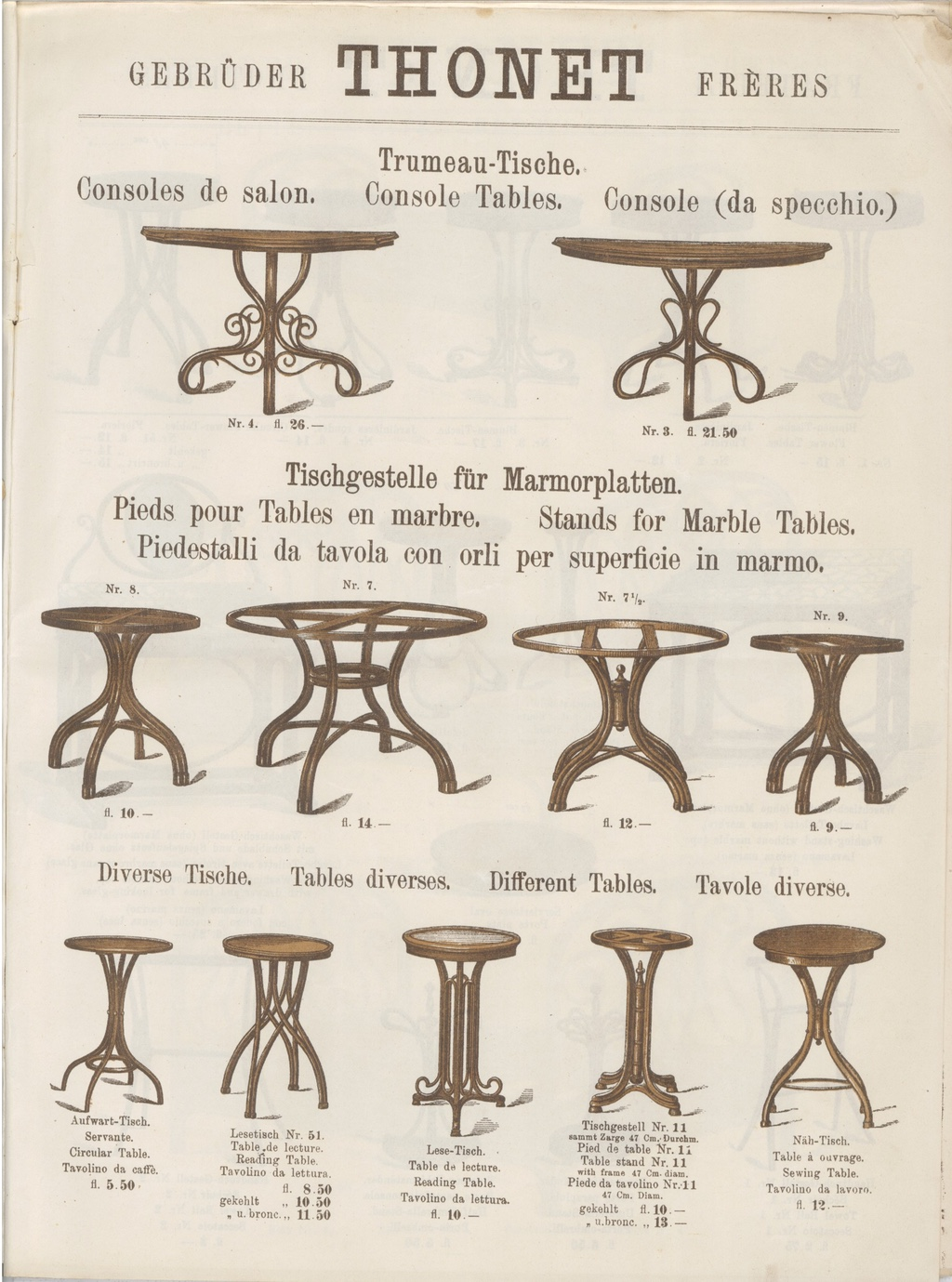 Thonet variety of products museum boppard - Tisch oval weiay ...
