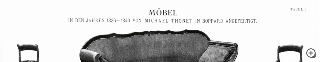 Furniture created by Michael Thonet in Boppard