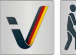 Logo Zertifikat Barrierefreiheit geprüft- barrierefrei für Menschen mit Gehbehinderung, teilweise barrierefrei für Rollstuhlfahrer